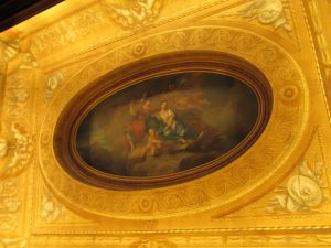 Mural on ceiling in Kings Apartments at Kensington Palace