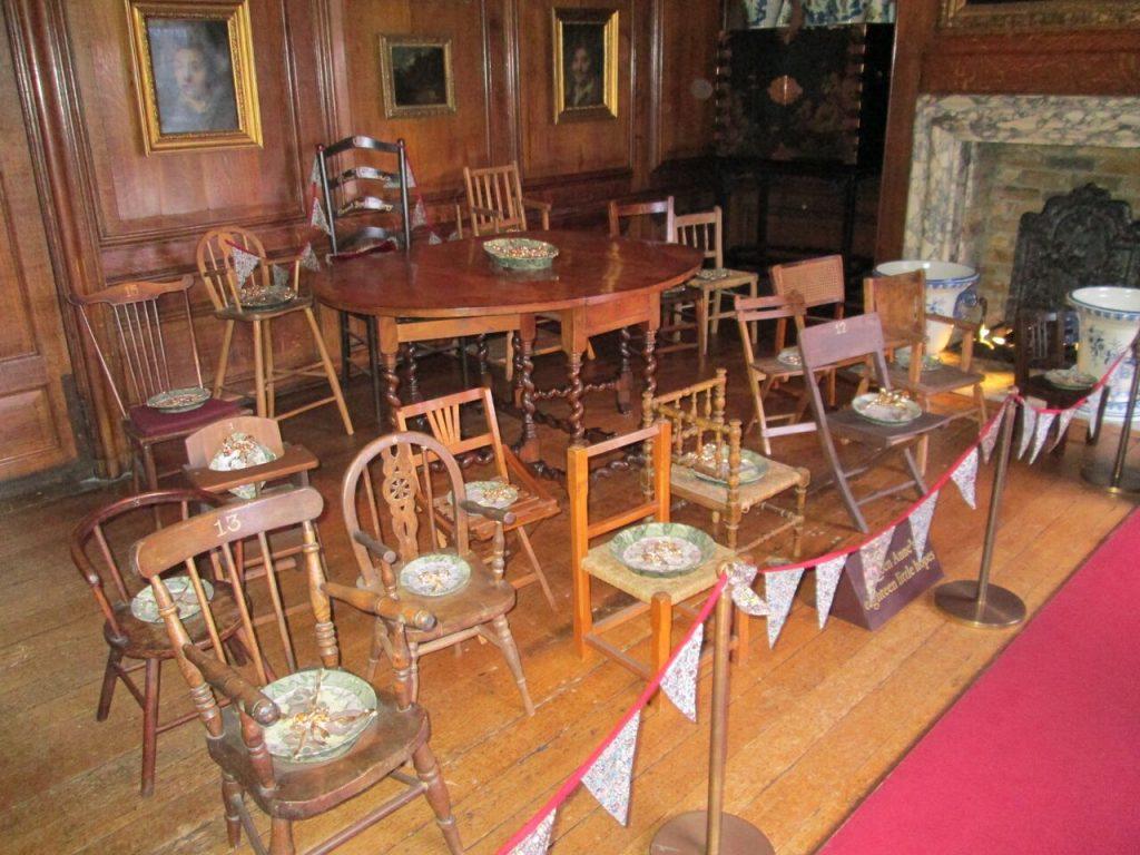 17 chairs representing Queen Annes lost children