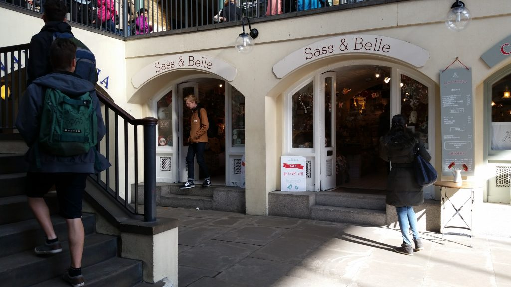 Sass and Belle shop at Covent Garden, London, UK