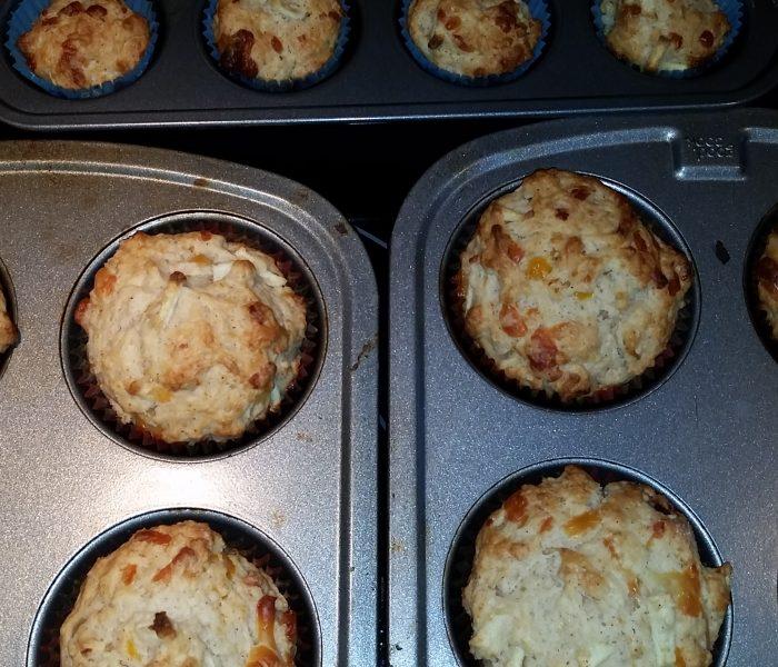 Trial- Apple Cheddar Muffins
