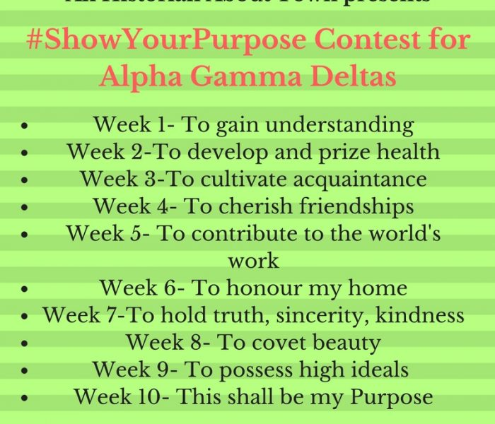 Living With Purpose, Pt. VI- Fraternity Friday