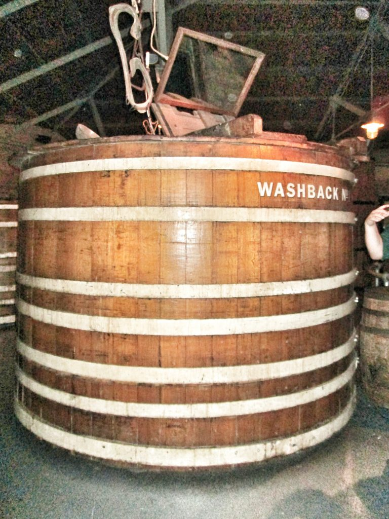 A replica washback at the Jameson's Bow St whiskey distillery
