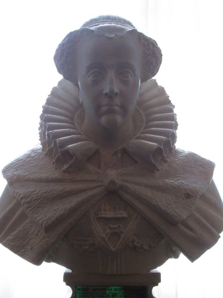 Mary, Queen of Scots bust at Edinburgh Castle