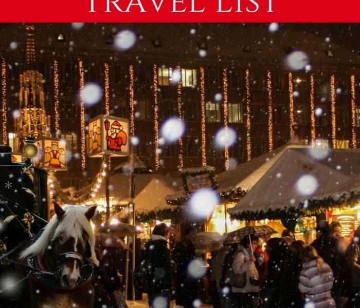 Christmas Travel List, Travel Thursday