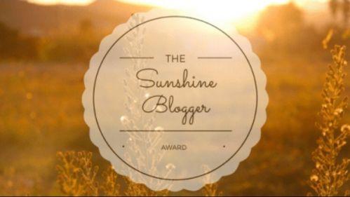 Sunshine Blogger Award, courtesy of Homeplaceweb!