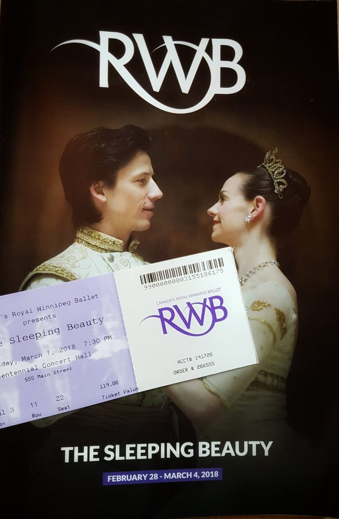 Ballet ticket and program