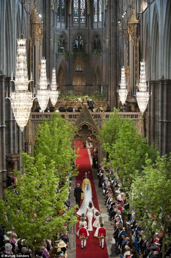 2011 Royal Wedding Westminster Abbey Trees
