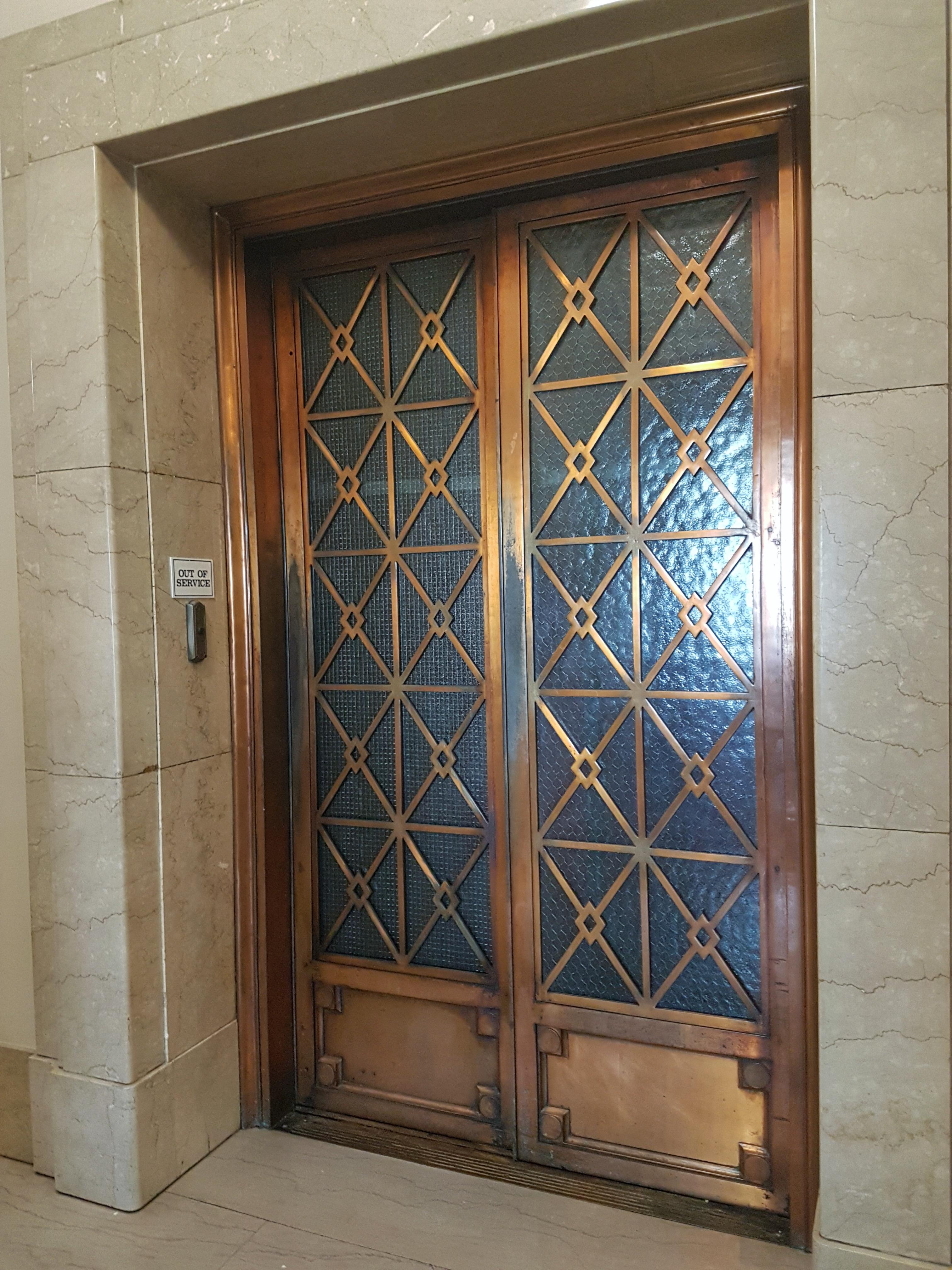 Manitoba Legislative Building Art Deco Elevator