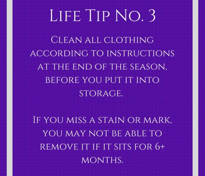 Life Tip No. 3- Clothing Care