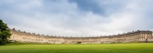 Panoramic shot of the Royal Crescent in Bath, Somerset