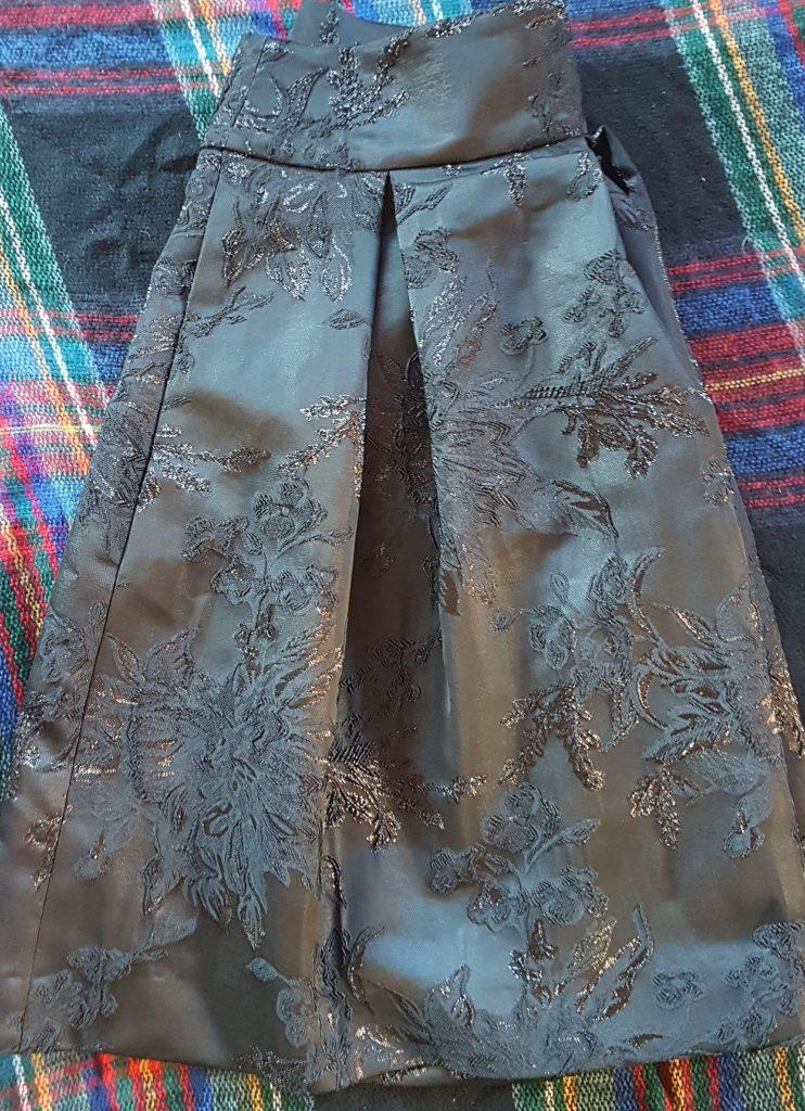 Black brocade skirt