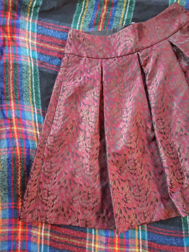 Red taffeta full skirt