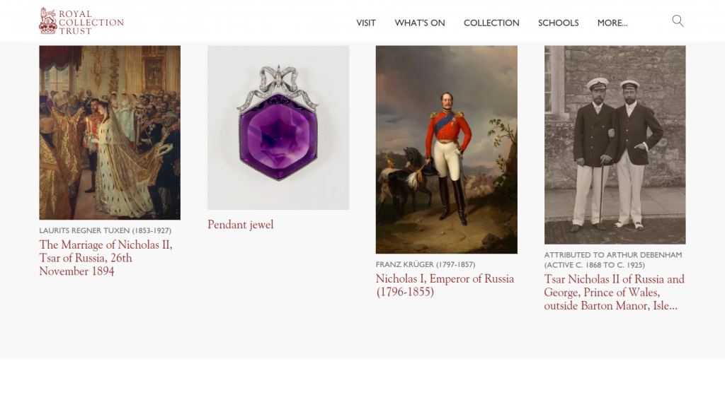 Russia, Royalty, and the Romanovs exhibition at the Queen's Gallery, Buckingham Palace