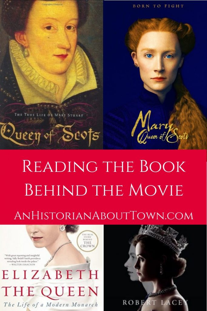 Historical movie posters and the history books they are based on