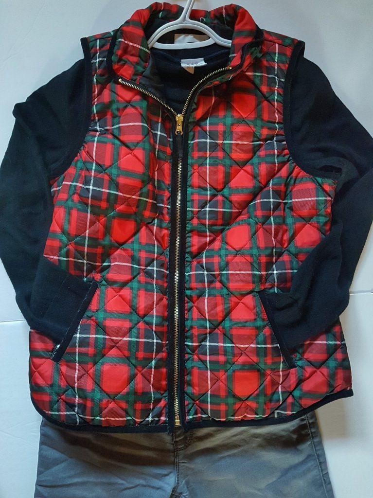 Old Navy Christmas Plaid Vest