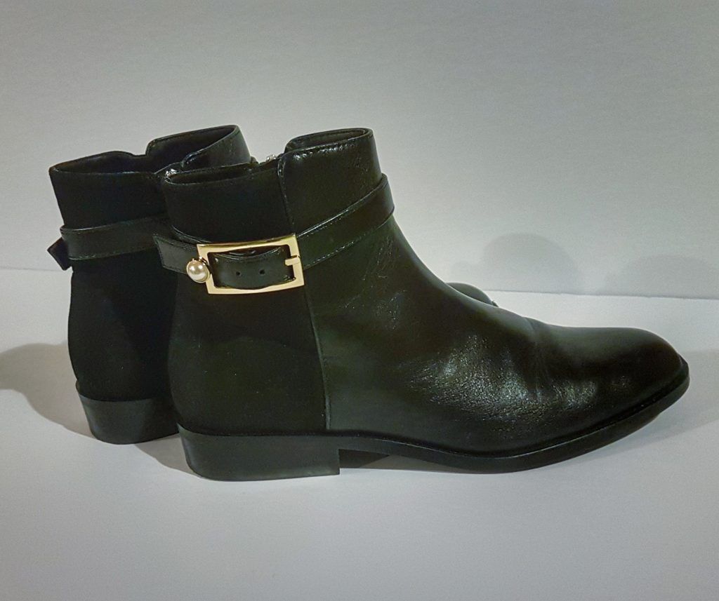 Zara Ankle Boots with Pearl Detail and Suede Backing