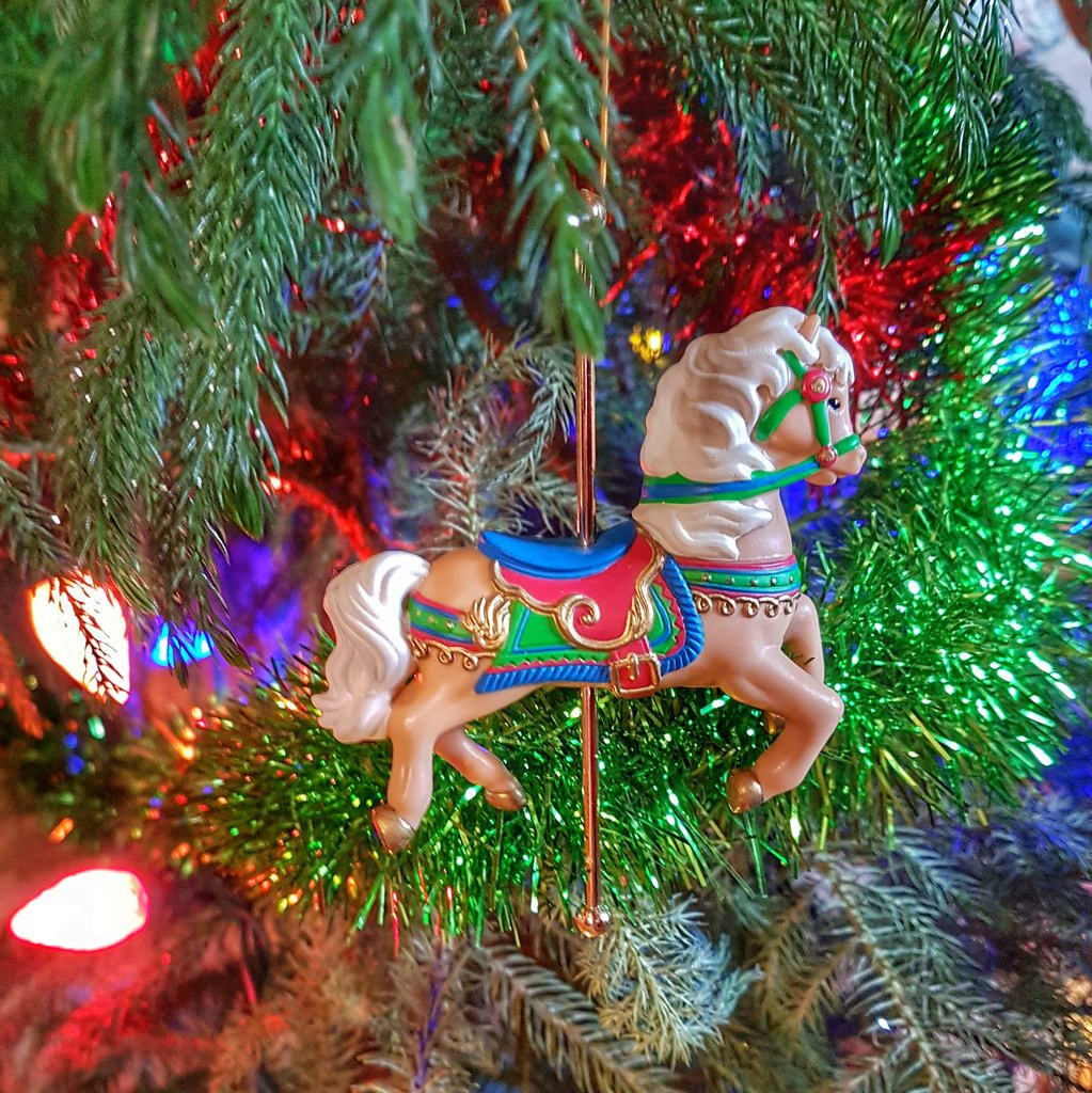 Carousel Christmas ornament