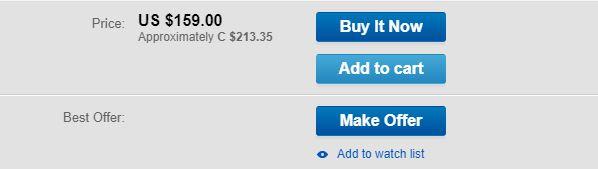 Make Offer Button on eBay